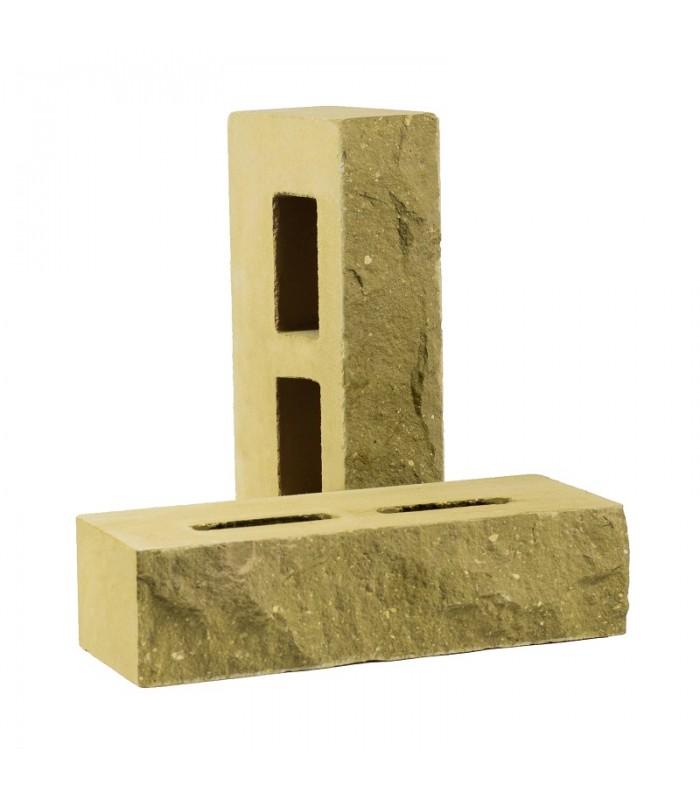 Кирпич пустотелый колотый «Дикий камень» Цвет: Песчаник