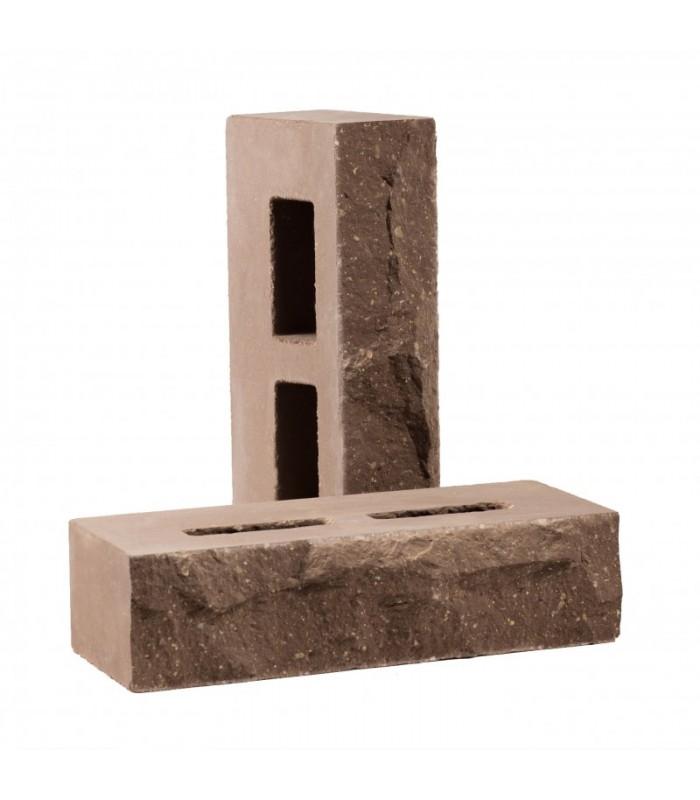 Кирпич пустотелый колотый «Дикий камень» Цвет: Шоколад
