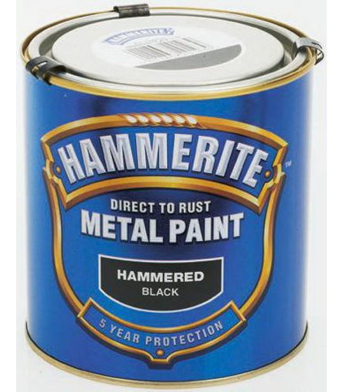 Краска по металлу HAMMERITE молотковая поверхность черная, 2,5л